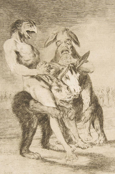 Relief - Look How Solemn They Are by Francisco Goya