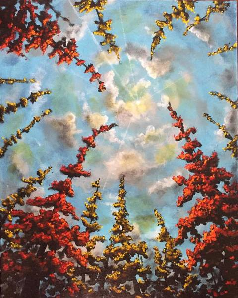 Wall Art - Painting - Look Through The Trees by Joel Tesch