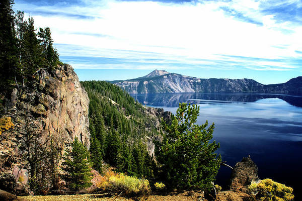 Photograph - Looking Across Crater Lake by Frank Wilson