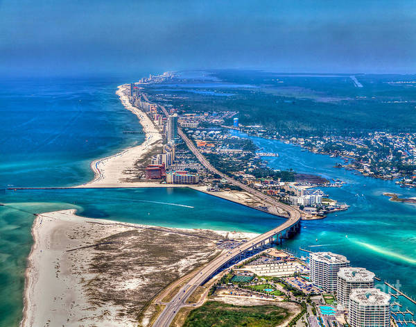 Photograph - Looking West Across Perdio Pass by Gulf Coast Aerials -