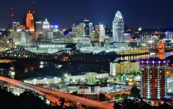Wall Art - Photograph - Looking At Cincinnati From The Park by Frozen in Time Fine Art Photography