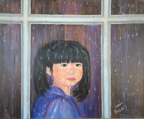 Wall Art - Painting - Looking At The Rain by Susan Brooks