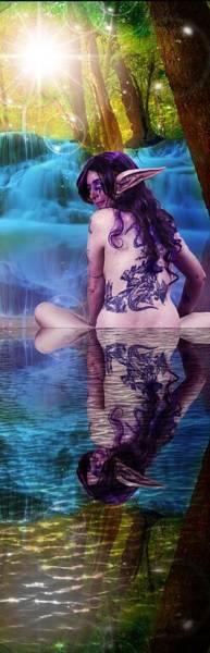 Aspect Digital Art - Looking Back by Stormy Mystique