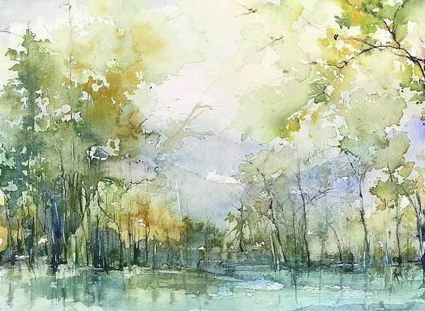 Painting - Beyond The Trees by Robin Miller-Bookhout