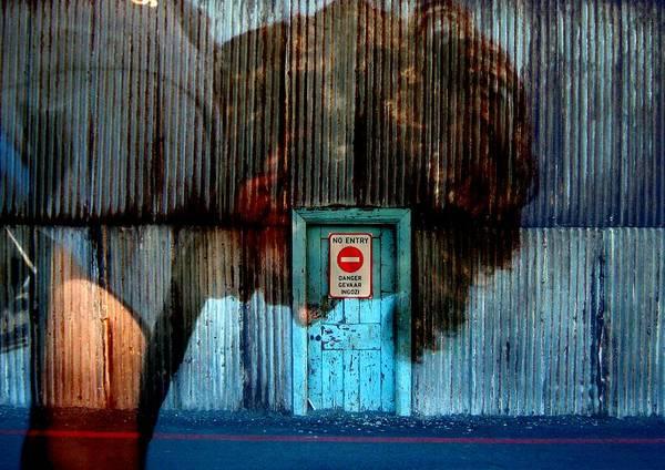 No Entry Digital Art - Looking Down--no Entry by Derick Burke