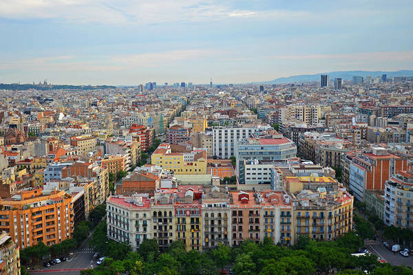 Photograph - Looking Down On Barcelona From The Sagrada Familia by Toby McGuire