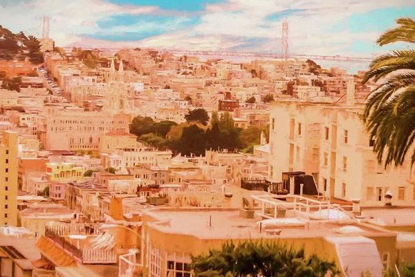 Digital Art - Looking Down On San Francisco by Rusty R Smith