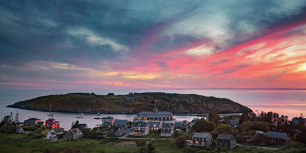 Photograph - Looking Down On The Village Of Monhegan by Darylann Leonard Photography