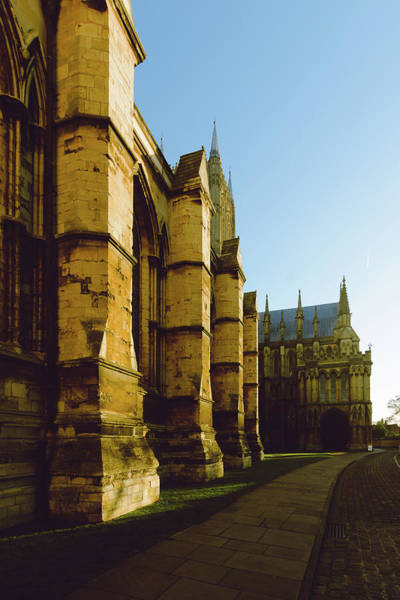 Photograph - Looking Down South Facade Of Lincoln Cathedral by Jacek Wojnarowski
