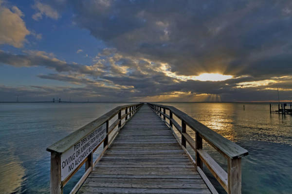 Photograph - Looking Down The Pier by Jerry Gammon
