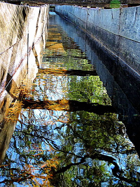 Rader Photograph - Looking Down The Water Sluice  by Roe Rader