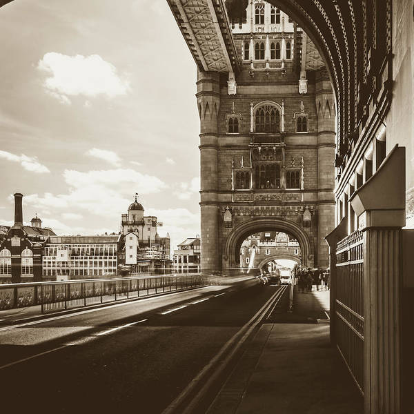 Photograph - Looking Down Tower Bridge London by Jacek Wojnarowski
