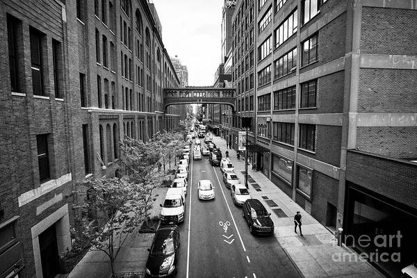 Nabisco Photograph - looking down west 15th street between chelsea market on the left and milk studios building New York  by Joe Fox