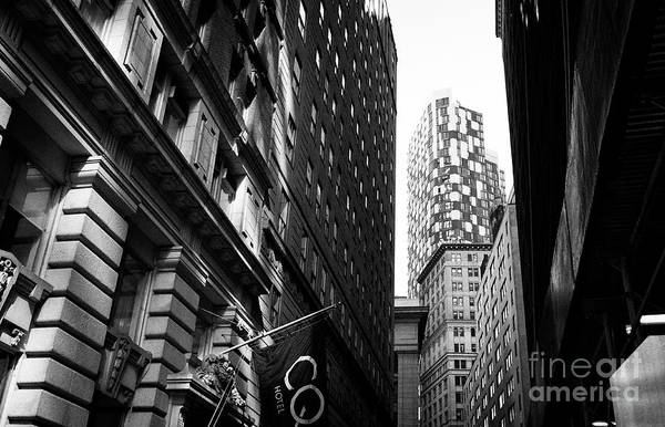 Wall Art - Photograph - looking down william street towards william beaver house 15 william New York City  by Joe Fox