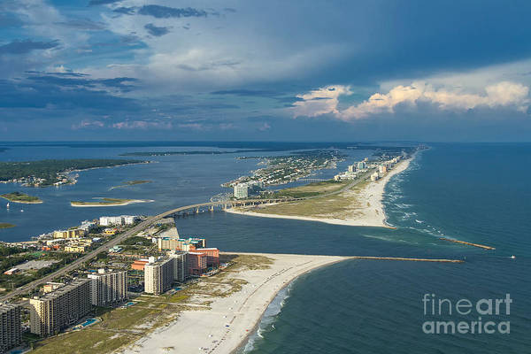 Photograph - Looking East Across Perdio Pass by Gulf Coast Aerials -