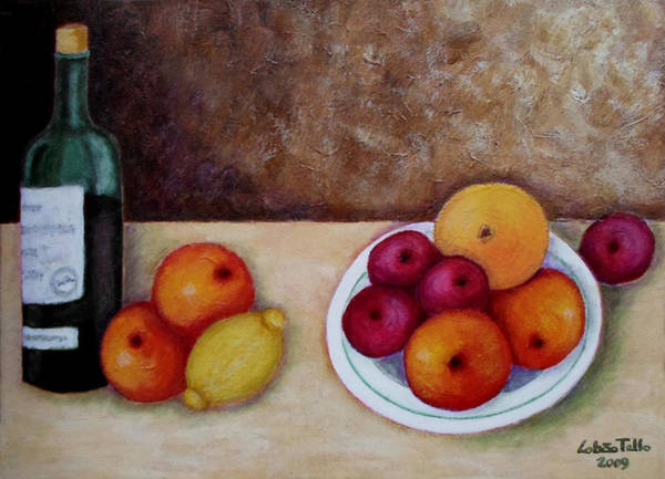 Acrilic Painting - Looking For Cezanne II by Madalena Lobao-Tello