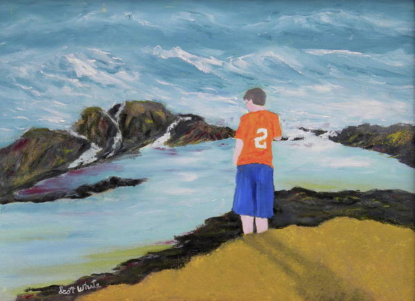 Painting - Looking For Starfish by Scott W White