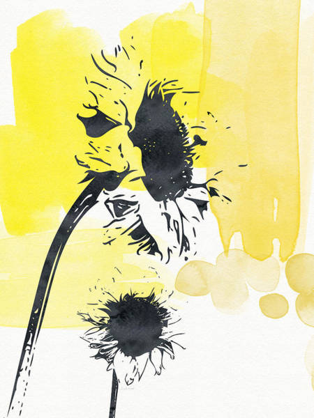 Ink Painting - Looking Forward- Art By Linda Woods by Linda Woods