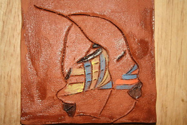 Ceramic Art - Looking Glass - Tile by Gloria Ssali