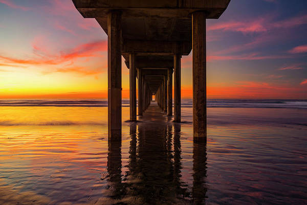 Scripps Pier Photograph - Looking Glass by Peter Irwindale