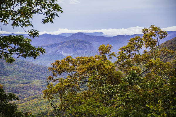 Photograph - Looking Glass Rock Distant View by Allen Nice-Webb
