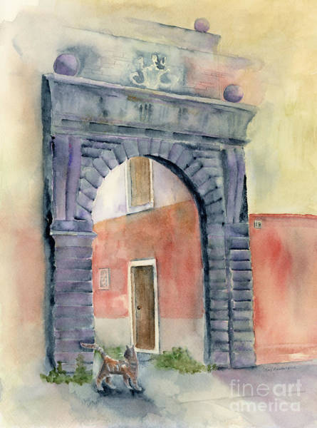 Archway Painting - Looking In by Amy Kirkpatrick