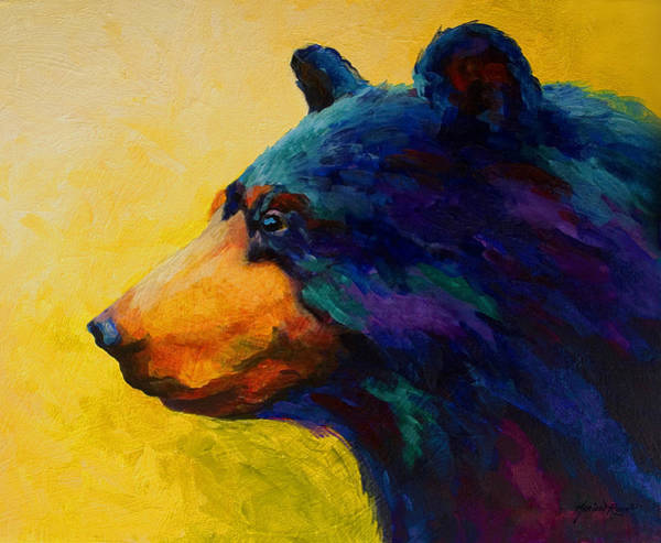 Wall Art - Painting - Looking On II - Black Bear by Marion Rose