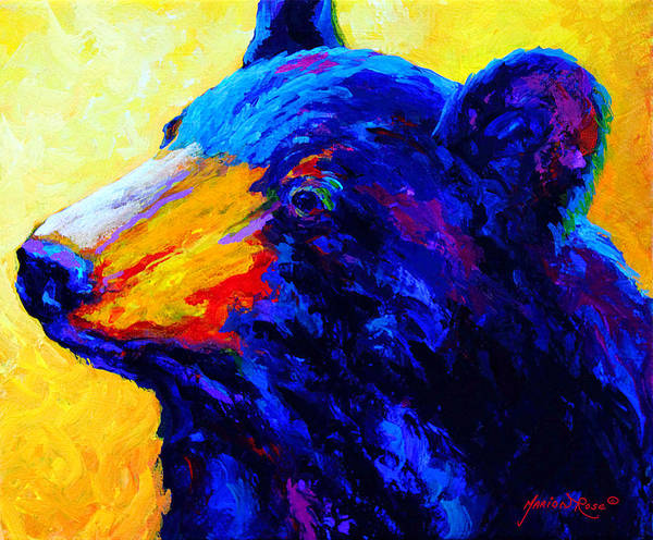 Wild Bear Painting - Looking On IIi by Marion Rose