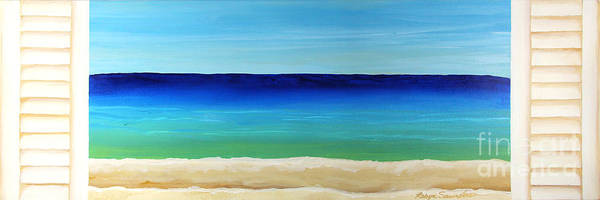 Painting - Looking Out At The Sea Shutters by Robyn Saunders