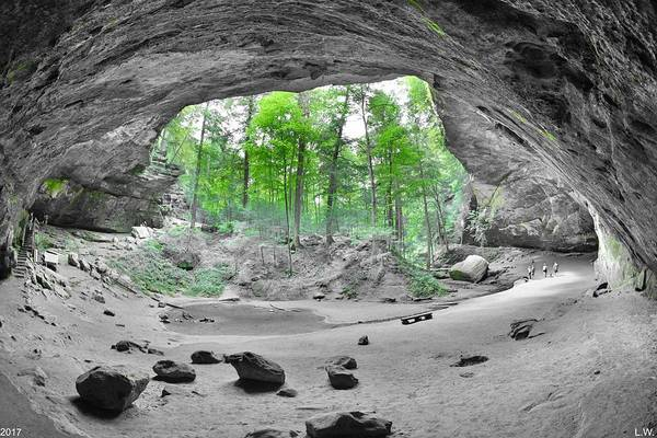 Photograph - Looking Out Of Ash Cave Hocking Hills Ohio 2 by Lisa Wooten