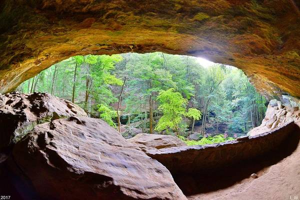 Photograph - Looking Out Of Old Man's Cave by Lisa Wooten