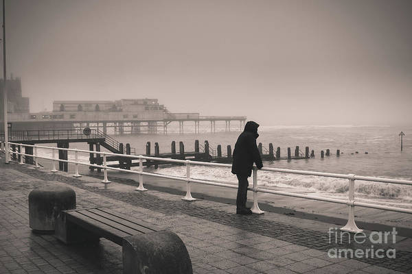 Photograph - Looking Out To Sea On A Rainy Day by Keith Morris