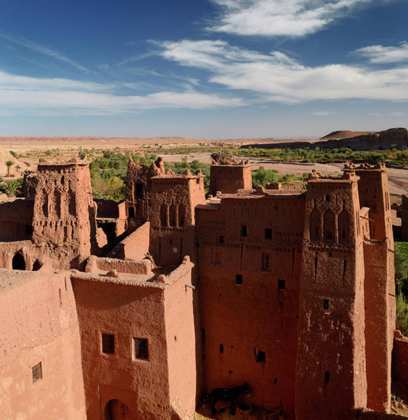 Ait Benhaddou Photograph - Looking Over The Ounila River Valley From The Top Of Ait Benhadd by Reimar Gaertner