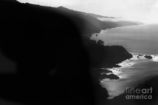 Photograph - Looking South On The Big Sur Coast Circa 1930 by California Views Archives Mr Pat Hathaway Archives