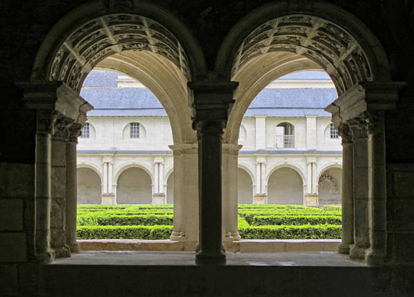 Fontevraud Photograph - Looking Through The Arches by Dave Mills