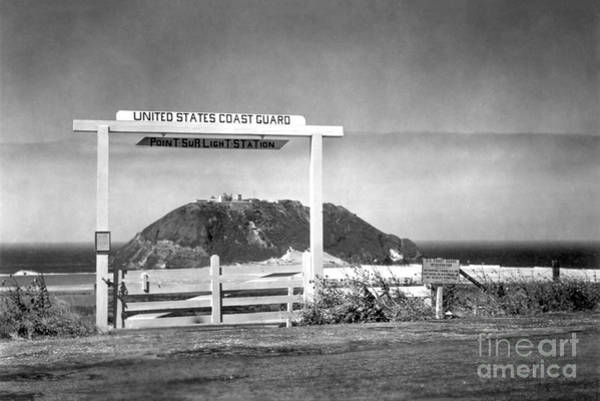 Photograph - Looking Through The Gate Of The Point Sur Light Station From Hig by California Views Archives Mr Pat Hathaway Archives