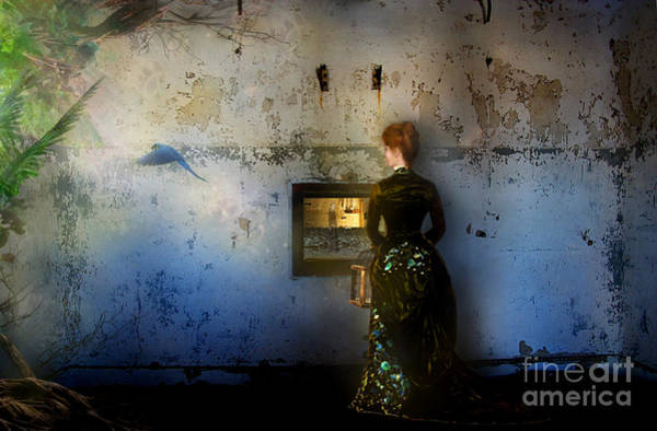 Wall Art - Mixed Media - Looking Through The Past To The Future by Carrie Jackson