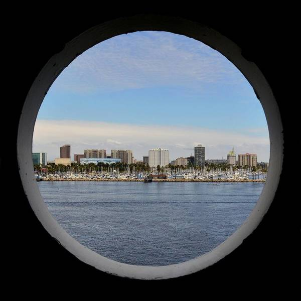 Photograph - Looking Through The Queen Mary's Porthole by KJ Swan