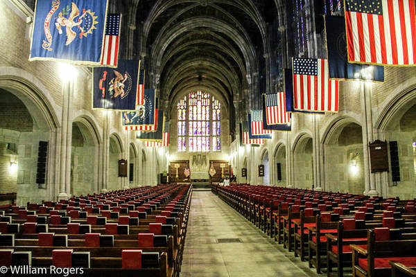 Chape Wall Art - Photograph - Looking To The Front Of The West Point Chapel by William Rogers
