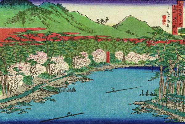 Kansai Painting - Panoramic View Of Arashiyama by Hasegawa Sadanobu I