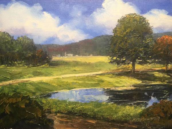 Painting - Looking Toward Town by Marty Coulter