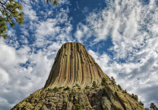 Photograph - Looking Up At Devils Tower by John M Bailey