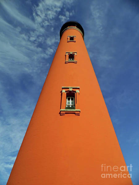 Photograph - Looking Up At The Ponce Inlet Lighthouse by D Hackett