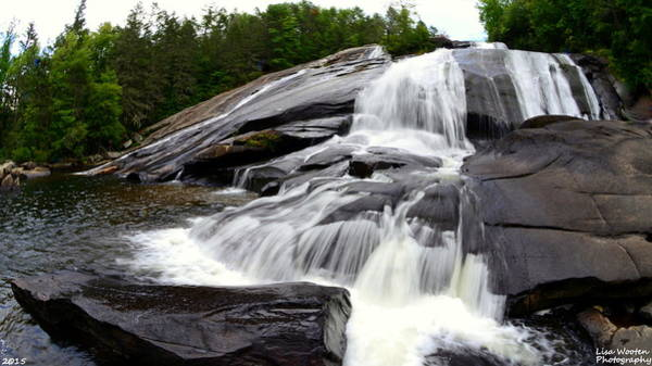 Photograph - Looking Up High Falls by Lisa Wooten