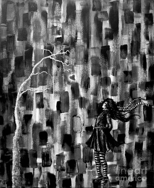 Painting - Looking Up In Black And White by Tim Musick