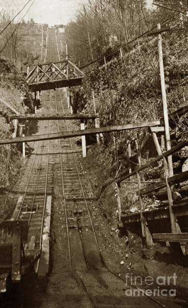 Photograph - Looking Up The Carbonado Incline Railway, Washington State 1903 by California Views Archives Mr Pat Hathaway Archives