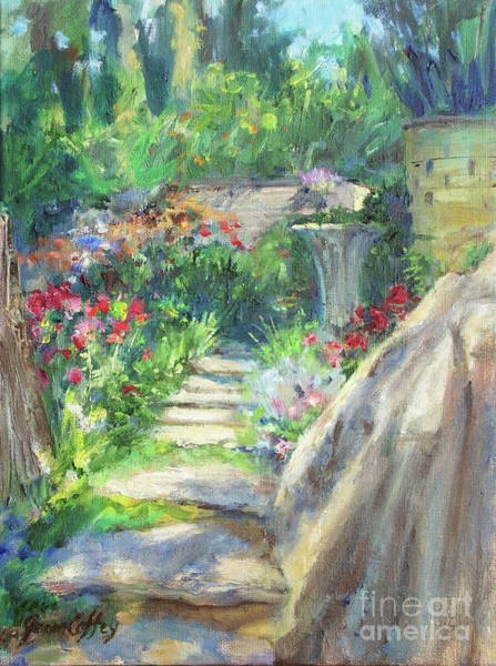 Painting - Looking Up The Garden Pathway by Joan Coffey