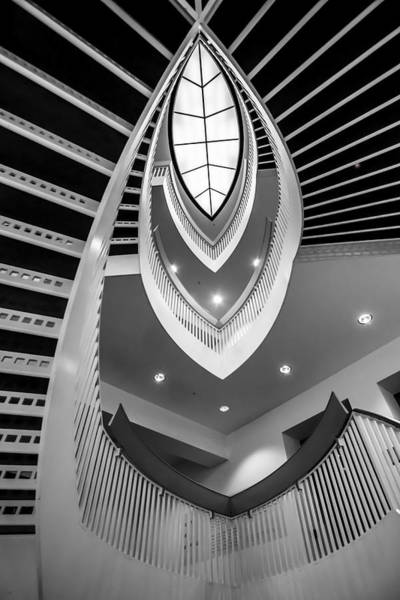 Photograph - looking up the MCA stairs by Sven Brogren