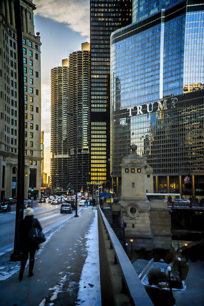 Photograph - Looking West On Wacker  by Sven Brogren