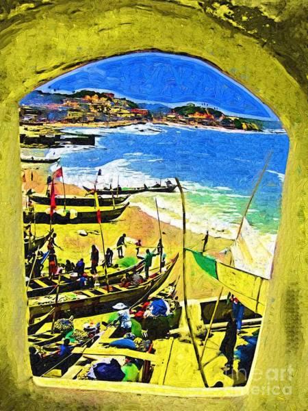 Ghana Painting - Lookout by Deborah Selib-Haig DMacq